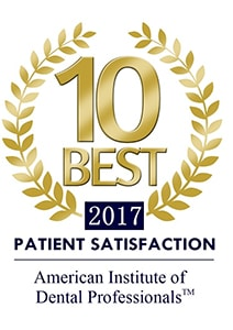 Logo of 10 Best Patient Satisfaction of the American Institute of Dental Professionals