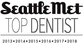 Seattle Met logo for Top Dentist, which Smile Surfers in Sumner have won since 2013