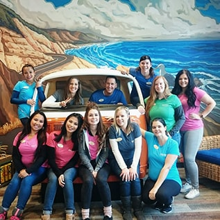 Team photo at Smile Surfers in Sumner, WA